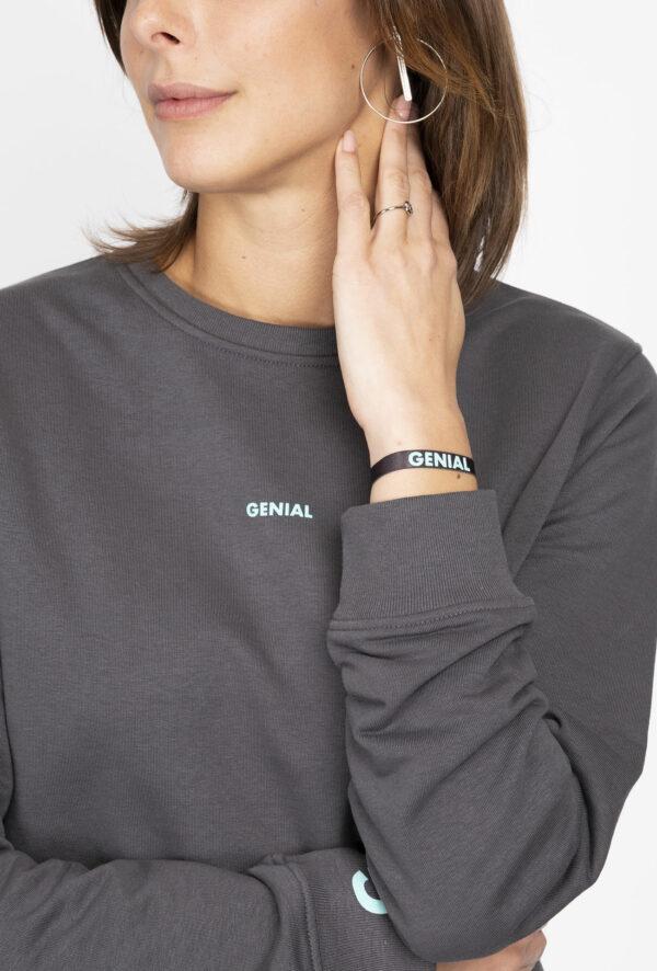 Sweat personnalisable à message Génial - pour Homme et femme