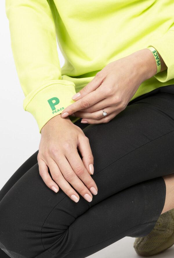 Sweat personnalisable à message Peace - pour Homme et femme