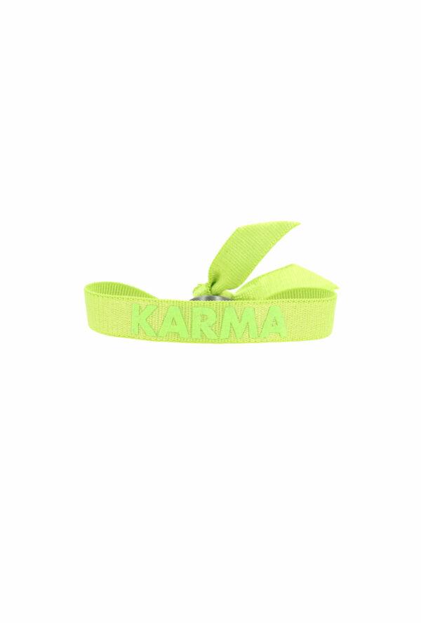 bracelet stretch unisexe ajustable et waterproof Karma vert - unisexe - bijou ajustable et waterproof