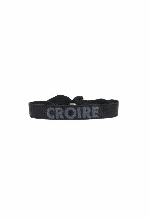 bracelet stretch unisexe ajustable et waterproof Croire gris et noir - unisexe - bijou ajustable et waterproof