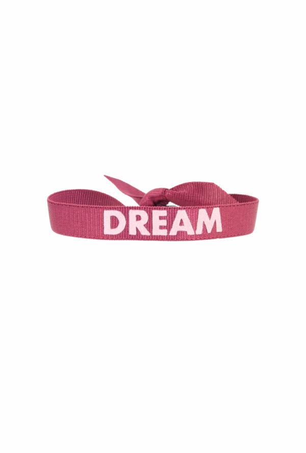 bracelet stretch unisexe ajustable et waterproof Dream bordeaux et rose- unisexe - bijou ajustable et waterproof