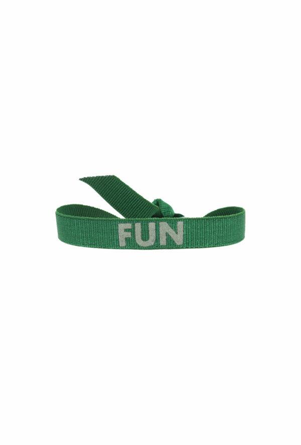 bracelet stretch unisexe ajustable et waterproof fun vert - unisexe - bijou ajustable et waterproof