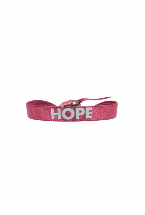 bracelet stretch unisexe ajustable et waterproof Hope bordeaux et gris - unisexe - bijou ajustable et waterproof