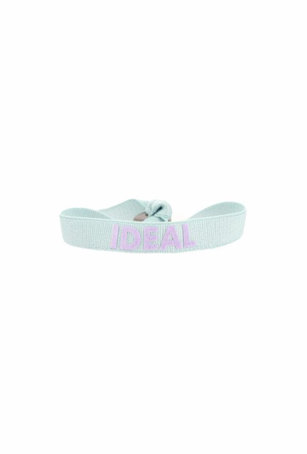 bracelet stretch unisexe ajustable et waterproof ideal bleu et parme - unisexe - bijou ajustable et waterproof