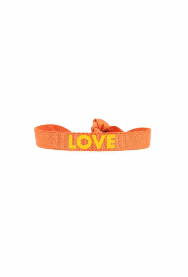 bracelet stretch unisexe ajustable et waterproof Love orange - unisexe - bijou ajustable et waterproof