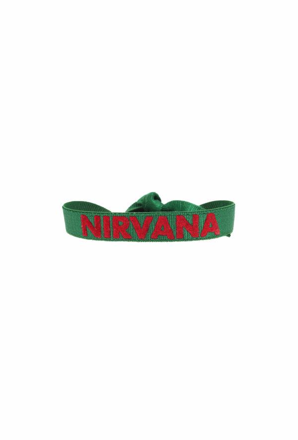 bracelet stretch unisexe ajustable et waterproof Nirvana vert et rouge- unisexe - bijou ajustable et waterproof