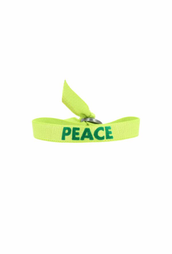 bracelet stretch unisexe ajustable et waterproofPeace vert - unisexe - bijou ajustable et waterproof