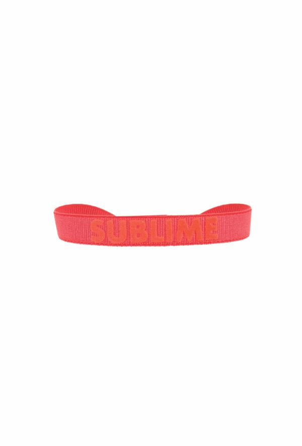 bracelet stretch unisexe ajustable et waterproof sublime rouge et orange- unisexe