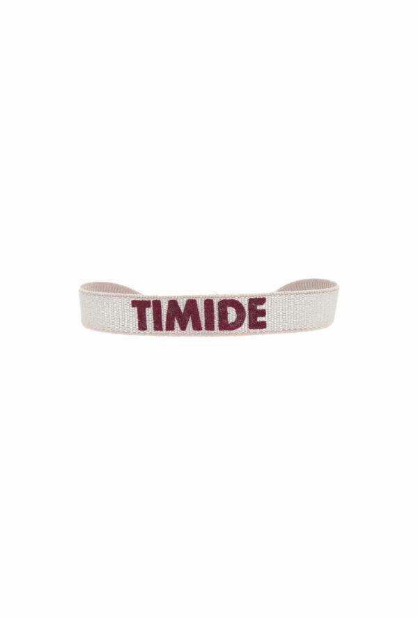 bracelet stretch unisexe ajustable et waterproof timide rose et bordeaux- unisexe