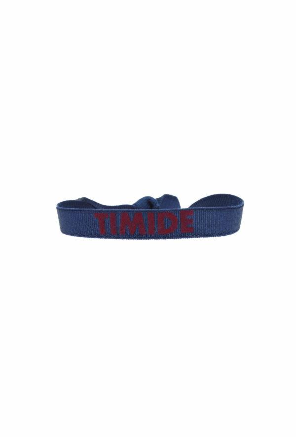 bracelet stretch unisexe ajustable et waterproof timide bleu et bordeaux- unisexe