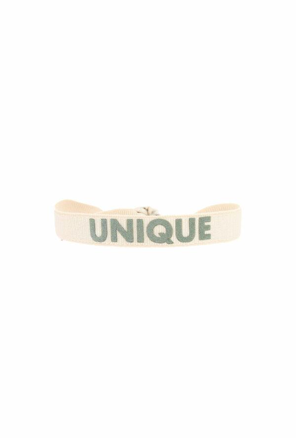 bracelet stretch unisexe ajustable et waterproof unique creme et kaki- unisexe