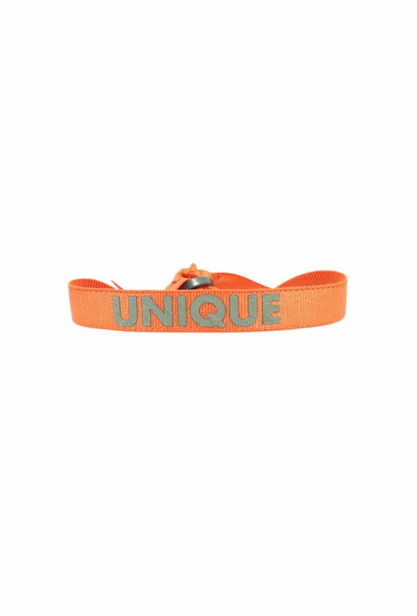 bracelet stretch unisexe ajustable et waterproof unique orange et kaki- unisexe