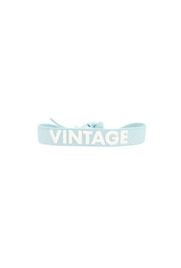 bracelet stretch unisexe ajustable et waterproof vintage bleu et blanc