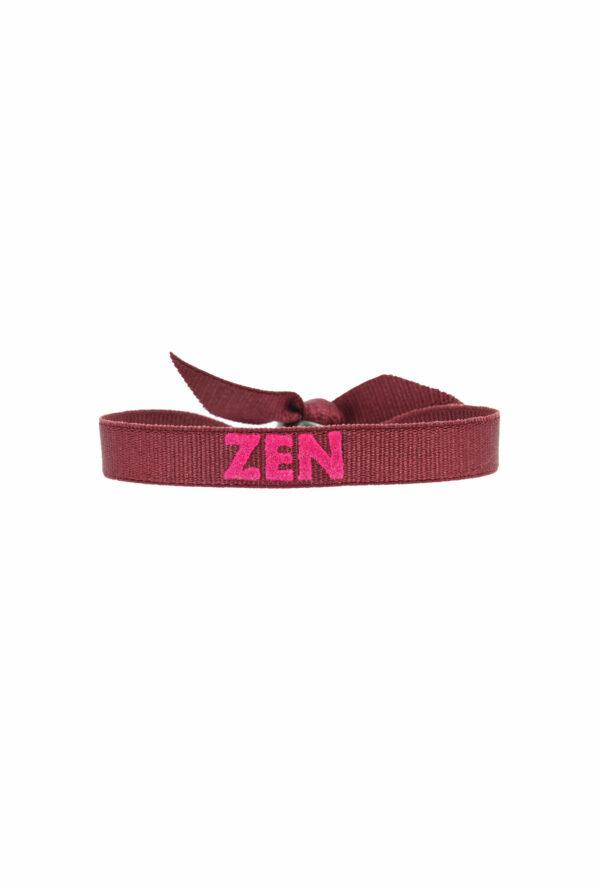 bracelet stretch unisexe ajustable et waterproof zen bordeaux et rose