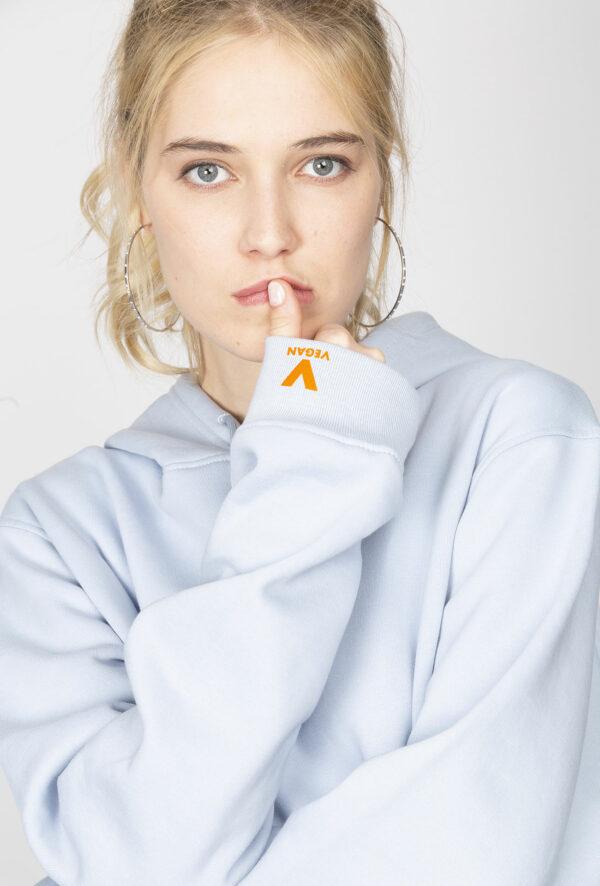 Sweat à capuche personnalisable à Message vegan - Pour Homme et pour Femme