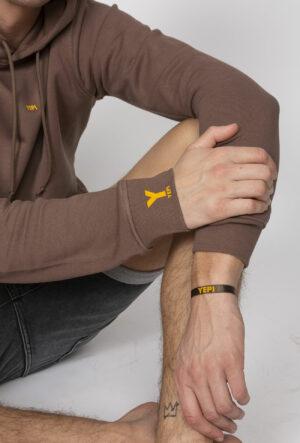 Sweat à capuche personnalisable à Message Yep - Pour Homme et pour Femme