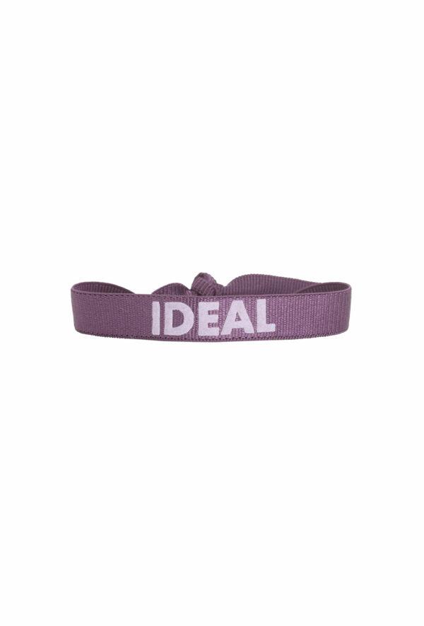 braclet stretch unisexe, ajustable et waterproof - taille unique - message idéal violet et parmeo