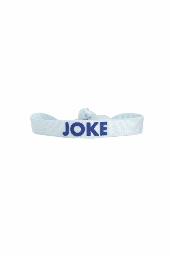 braclet stretch unisexe, ajustable et waterproof - taille unique - message joke bleu et bleu foncé
